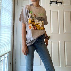 Vintage 80s Animal Family Single Stitch Tee Shirt